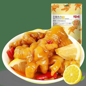 百草味 柠檬酸辣味 即食无骨鸡爪 135g*2件