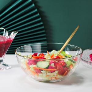 白嘉伊 透明玻璃碗 310ml*2个装 送水果叉
