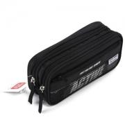 PLUS会员: deli 得力 3074 时尚运动款笔袋 黑色9.13元(需买10件,双重优惠,实付91.3元)