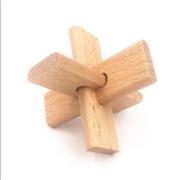 国伟玩具 榉木三通 鲁班锁孔明锁2.99元包邮