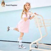 轻薄透气!Hush Puppies 暇步士 2020夏装新款花边洋气韩版公主裙(105~170码)4色