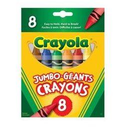 Crayola 绘儿乐 81-1345 三角特大蜡笔 8色