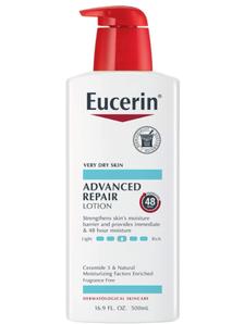 prime会员!Eucerin 优色林 Advanced Repair 高效保湿修护身体乳液 500ml  79.15元含税直邮