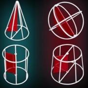 科达慧 高中数学立体几何模型 18件套装 送卡扣+辅助线+夜光背包74.8元包邮