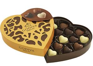 prime会员!Godiva 歌帝梵 金装系列 14颗巧克力心形礼盒装    直邮含税到手¥139.89