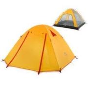 NH挪客户外铝杆帐篷野营露营装备多人防晒加厚沙滩野外遮阳棚 3-2人日光橙