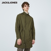 JACK JONES 杰克琼斯 219321509 中长款连帽风衣179元包邮(需用券)