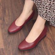 ECCO 爱步 Shape 45 型塑系列 女士真皮坡跟高跟鞋  含税到手¥515.27