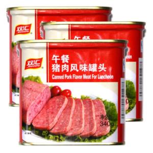 PLUS会员: Shuanghui 双汇 猪肉风味罐头 340g*3盒*2件