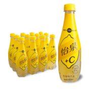 限地区! Coca-Cola 可口可乐 怡泉 +C 柠檬味汽水饮料 400ml*12瓶