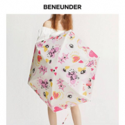 小巧便携!蕉下 口袋碎花系列 折叠防紫外线黑胶伞 甜枚