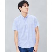 HLA 海澜之家 HNECJ2R059A59 男士格纹短袖衬衫59元(需用券)
