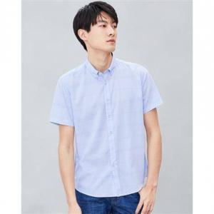 HLA 海澜之家 HNECJ2R059A59 男士格纹短袖衬衫