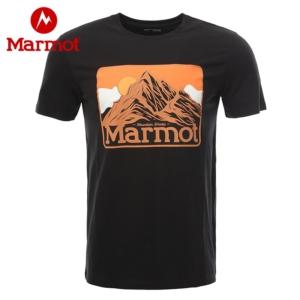 Marmot 土拨鼠 H53617 男款印花运动棉T恤