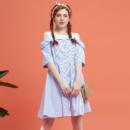 Meters bonwe 美特斯邦威 裙装女夏装新款条纹假两件连衣裙