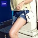 Tonlion 唐狮 女士牛仔短裤