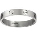 Cartier 卡地亚 LOVE系列 18K铂金 男女同款戒指B4085100 46