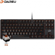 Dareu 达尔优 DK100 87键 有线机械键盘 黑色 国产茶轴 无光99元