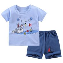 PLUS会员:童非得衣  多款可选  儿童短袖套装合*3件