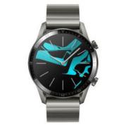 HUAWEI 华为 WATCH GT 2 尊享款 智能手表 46mm 黑色表盘 钛银灰金属表带(血氧、GPS、扬声器)