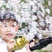 循环出泡!新凯纳 电动加特林8孔泡泡机 泡泡补充液+泡泡盘¥7.90 4.0折