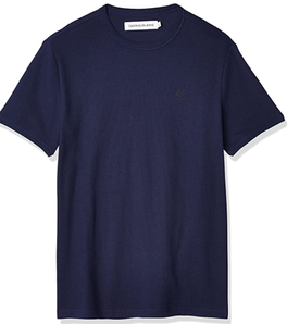 L码!prime会员!Calvin Klein 卡尔文·克莱恩 男士华夫格短袖T恤 41VM206   直邮含税到手¥56.24