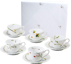 Narumi 鸣海 里花历系列 陶瓷咖啡杯&盘10件套 40912-32953  到手¥297.42