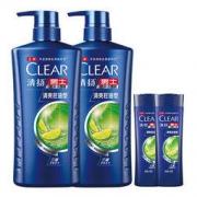 CLEAR 清扬 男士去屑洗发水套装 清爽控油型(720g*2+100g*2)