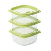 CHAHUA 茶花 冰箱储物保鲜盒 780ml 3个装8.9元