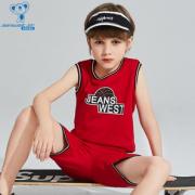 舒适百搭!JEANSWEST 真维斯 儿童背心短裤篮球运动服2件套¥59.90 3.0折