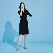 La Chapelle 拉夏贝尔 24156 女款法式衬衫裙109元包邮