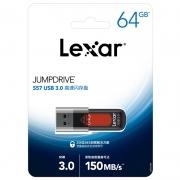 Lexar 雷克沙 S57 USB3.0 U盘 64GB37.9元包邮