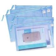 chanyi 创易 A4方格款拉链文件袋 5个装 多色可选