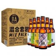 京A 精酿啤酒 淡色艾尔/美式IPA/小麦/比尔森组合装 330ml*6瓶34.5元