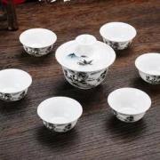 杰艺 茶杯套装 1碗+6杯5.8元包邮(需用券)