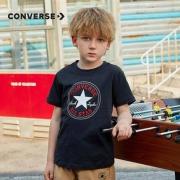 CONVERSE 匡威 儿童纯棉短袖T恤 98-160(XL)CM59元包邮(需用券)
