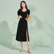 La Chapelle 拉夏贝尔 24162-12AW 女式方领修身中长款连衣裙139元(需用券)