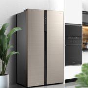 Midea 美的 BCD-541WKPZM(E) 变频风冷对开门冰箱 541L 流光咖