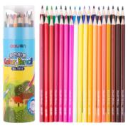 deli 得力 7014 彩色铅笔 24色桶装4.39元(需买7件,双重优惠,共30.75元)