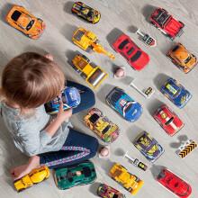 BEI JESS 贝杰斯 回力合金车45件玩具套装(26车+路标+地图+收纳箱)