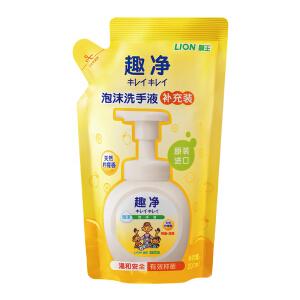 PLUS会员:LION 狮王 清爽抑菌儿童泡沫洗手液 200ml 补充装