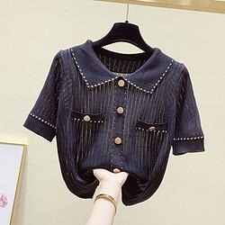 Puella 2F11148GL101 撞色短袖针织衫