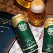 直降15元!青岛啤酒高端线:500mlx18听 奥古特 12度大麦酿造高端啤酒125元包邮,赠玻璃对杯(之前推荐140元)