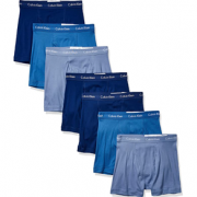 prime会员!Calvin Klein 卡尔文·克莱恩 男士棉质经典四角内裤7条装  302.48元含税直邮¥277.25 比上一次爆料降低 ¥14.98