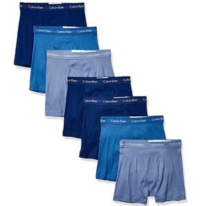 prime会员!Calvin Klein 卡尔文·克莱恩 男士棉质经典四角内裤7条装  302.48元含税直邮