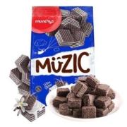 munchy's 马奇新新 夹心巧克力威化饼干 香草味 90g *10件29.5元(双重优惠,合2.95元/件)