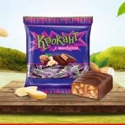 KDV 进口紫皮糖 俄罗斯 果仁夹心巧克力500g