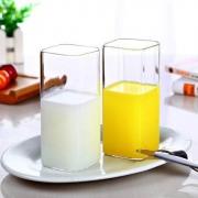 MINGSHANGDE 明尚德 透明玻璃 方形杯 400ml*2只7.95元包邮(双重优惠)