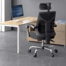 HBADA 黑白调 HDNY164BM 人体工学电脑椅 黑色399元包邮