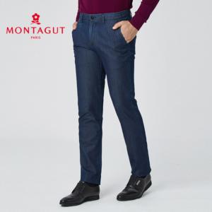 MONTAGUT 梦特娇 1110789-B 男士商务直筒牛仔裤